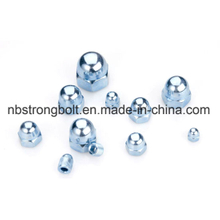 High Quality One Piece Type Carbon Steel DIN1587 Hexagon Dome Cap Nut/China nut factory,China nut manufacturer