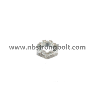 DIN935 Hex Castle Nut with White Zinc Plated Cr3+ M12/China hex nut factory,China slotted nut manufacturer