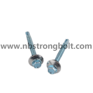 Hex. Washer Head Self Drilling Screws with Bonded Washer (METAL/EPDM OD 16 mm) /China self drilling screw factory,China screw factory