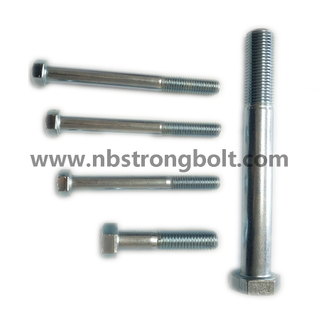 DIN931 Hex Bolt with White Zinc/China hex Bolt manufacturer,China bolts factory,China hex bolts factory