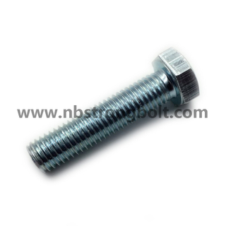 DIN933 Hex Bolts Cl. 4.8 with White Zinc Plated Cr3+ M14X60/China hex Bolt manufacturer,China bolts factory,China hex bolts factory