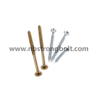 Chipboard Screw with Yellow Zinc Plated/China chipboard screw factory,China chipbopard screw manufacturer
