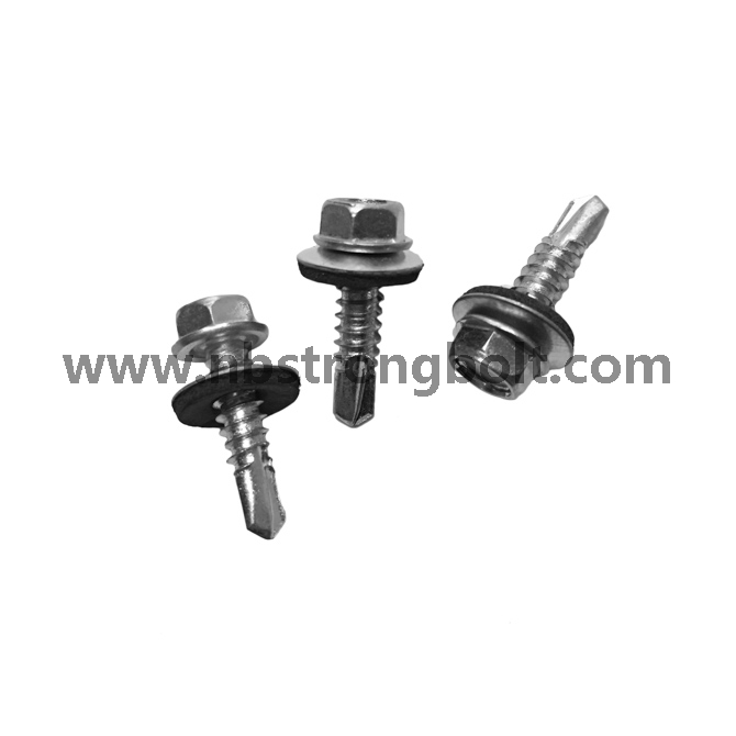 C1022 Steel Harden Self Drilling Screws Hex. Washer Head with Bonded Washer (METAL/EPDM OD 16 mm) /China self drilling screw factory,China screw factory