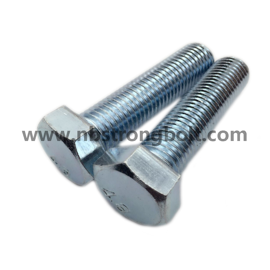 DIN933 Hex Bolts Cl. 4.8 with White Zinc Plated Cr3+ M20X80/China hex Bolt manufacturer,China bolts factory,China hex bolts factory