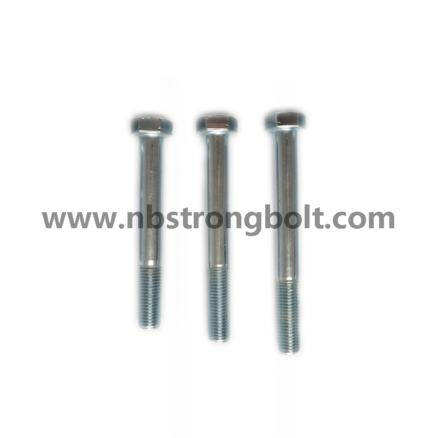 DIN931 Hex Bolt with Cl. 8.8 Zp/China hex Bolt manufacturer,China bolts factory,China hex bolts factory