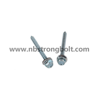 Hex Washer Hight Head Shoulder Under Head Post Ame Screw with Type 17 Cut Point Assembled Bonded Washer/China self drilling screw factory,China screw factory
