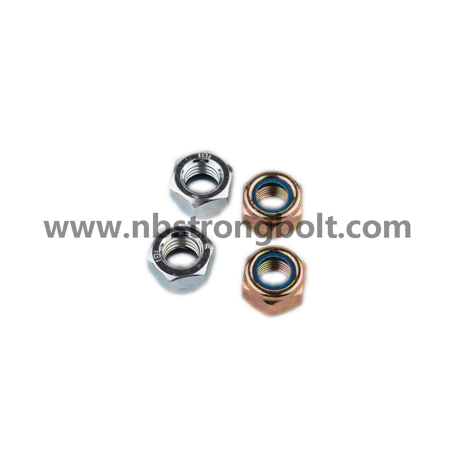 Nylon Insert Lock Nut S|8 with zinc platedDIN985/China nylon lock nut factory,China nut manufacturer