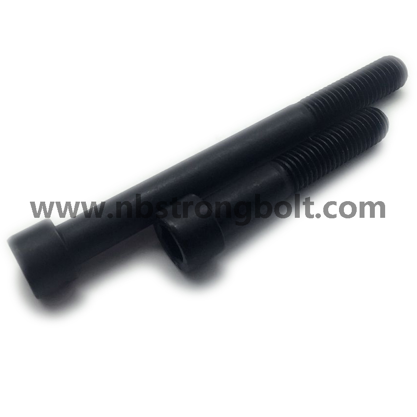 DIN912 Grade 12.9 Hex Socket Head Cap Screw with Black M12X300/China socket bolt factory ,China socket bolt manufacturer