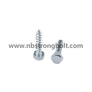 Hex Lag Screw with Zinc/China wood screw factory,China screw manufacturer,DIN571