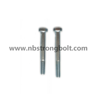 DIN931 Hex Bolt Cl. 8.8 with Zinc/China hex Bolt manufacturer,China bolts factory,China hex bolts factory