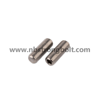 DIN913 A4 Hex Socket Set Screw with Flat Point/China hex socket set screw factory,China screw factory
