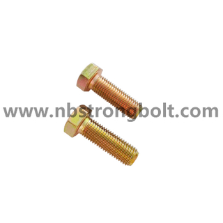 Hex Bolt CL.8.8 With Yellow Zinc/ China hex bolt factory /China bolt manufacturer