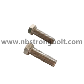 High Quality Stainless Steel A4 Hex Bolt DIN933/ China hex bolt factory /China bolt manufacturer