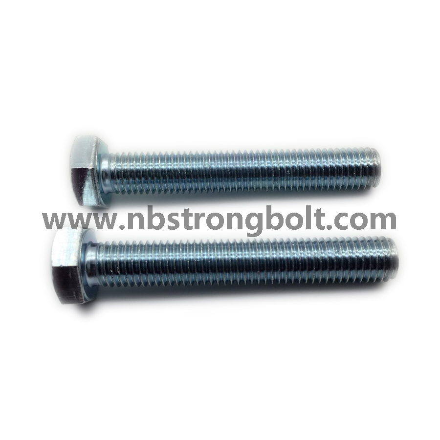DIN933 Gr. 8.8 Hex Bolt with Zp Cr3+/China hex Bolt manufacturer,China bolts factory,China hex bolts factory