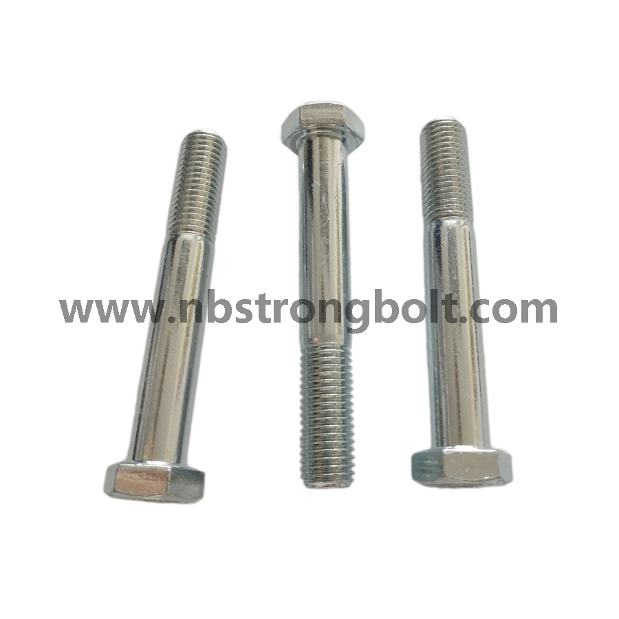 DIN931 Hex Bolt, Hex Cap Screw Zinc Plated/China hex Bolt manufacturer,China bolts factory,China hex bolts factory