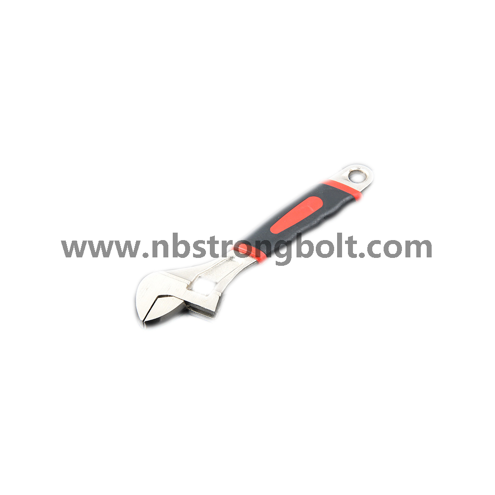 Nickel Alloy Adjustable Wrench Rubber Handle,Adjustable spanner/China allen key/wrench factory,China spanner/wrench factory