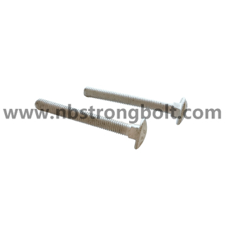 DIN603 8.8 F.T HDG M8 X 70 / China carriage bolt factory / China carriage bolt manufacturer